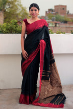 Load image into Gallery viewer, Classic Red Temple Border Liva Saree