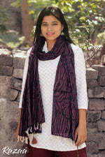 Load image into Gallery viewer, Purple Tiger Print Scarf