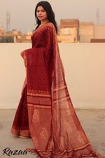 Load image into Gallery viewer, Handblock printed Liva Saree