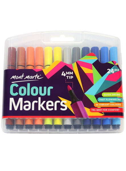 Colour Markers 24 pcs in Case
