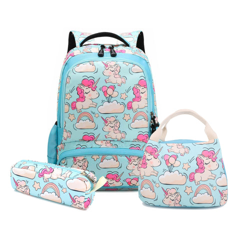 Blue Unicorn Kids School Backpack Trio Kids Singapore