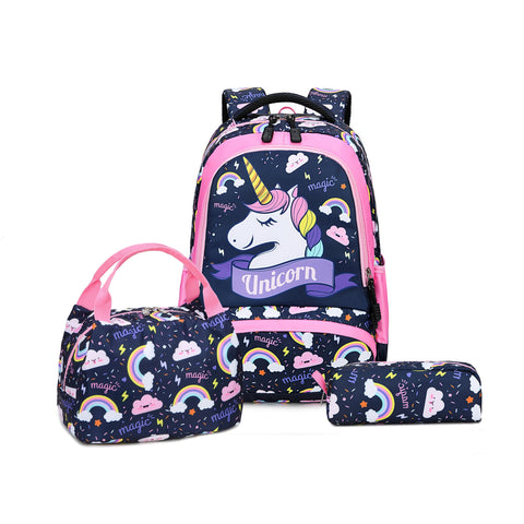Dark Blue Unicorn Kids School Backpack Trio Kids Singapore