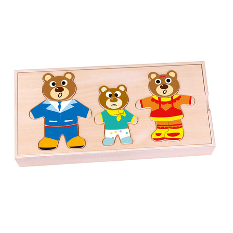 Dress Bear Family Tooky Toy