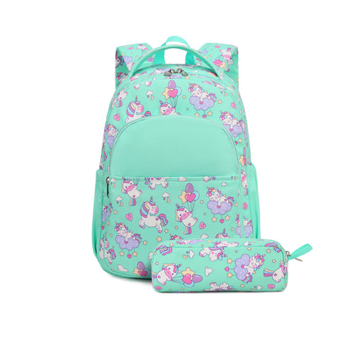 Mini Green Unicorn Backpack Trio Kids Singapore