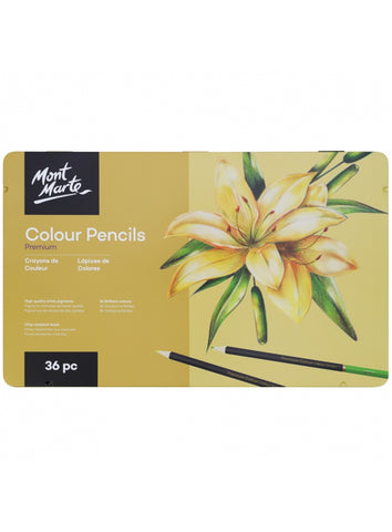 Mont Marte Colouring Pencils Set - 36 pieces