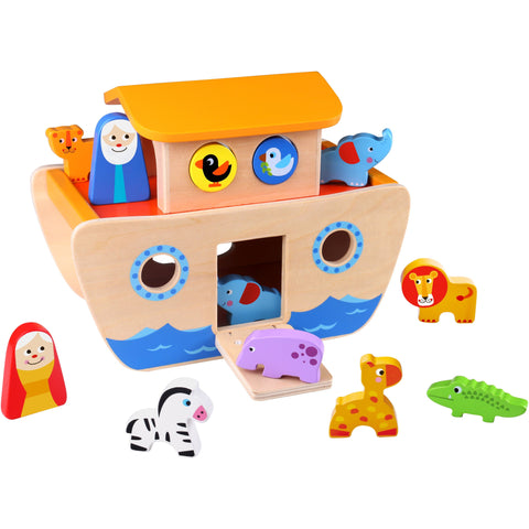 Noah's Ark Wooden Animal Toys Tooky Toy