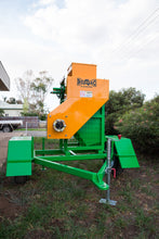 "Load image into Gallery viewer, Roller Mill supplied with Stand and Hopper on Trailer - 14"" 540 PTO 6.5 tonne per hour"