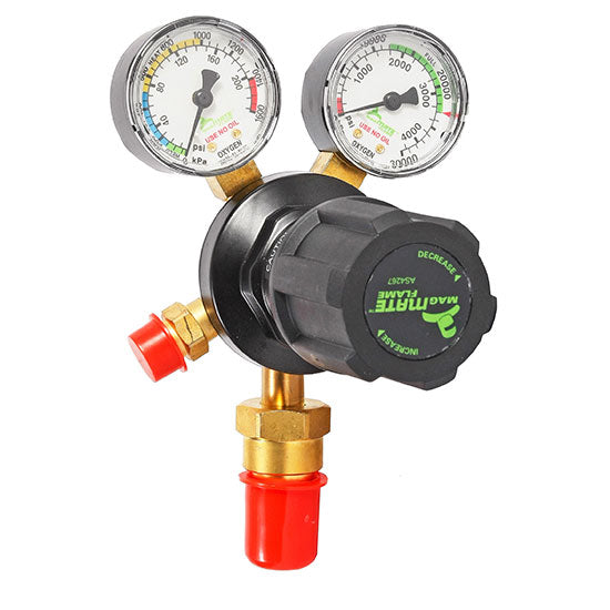 MagMate Flame Oxygen Regulator - Vertical Inlet