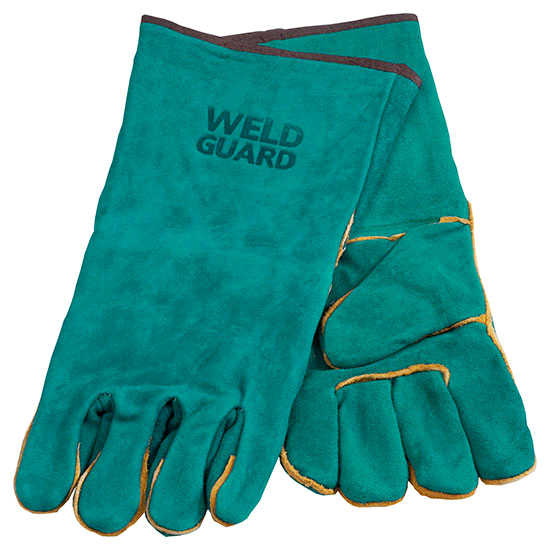 Left hand only, fully lined welding gloves.
