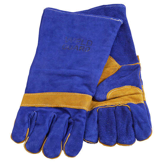 High quality butthide, reinforced palm, fully lined welding gloves