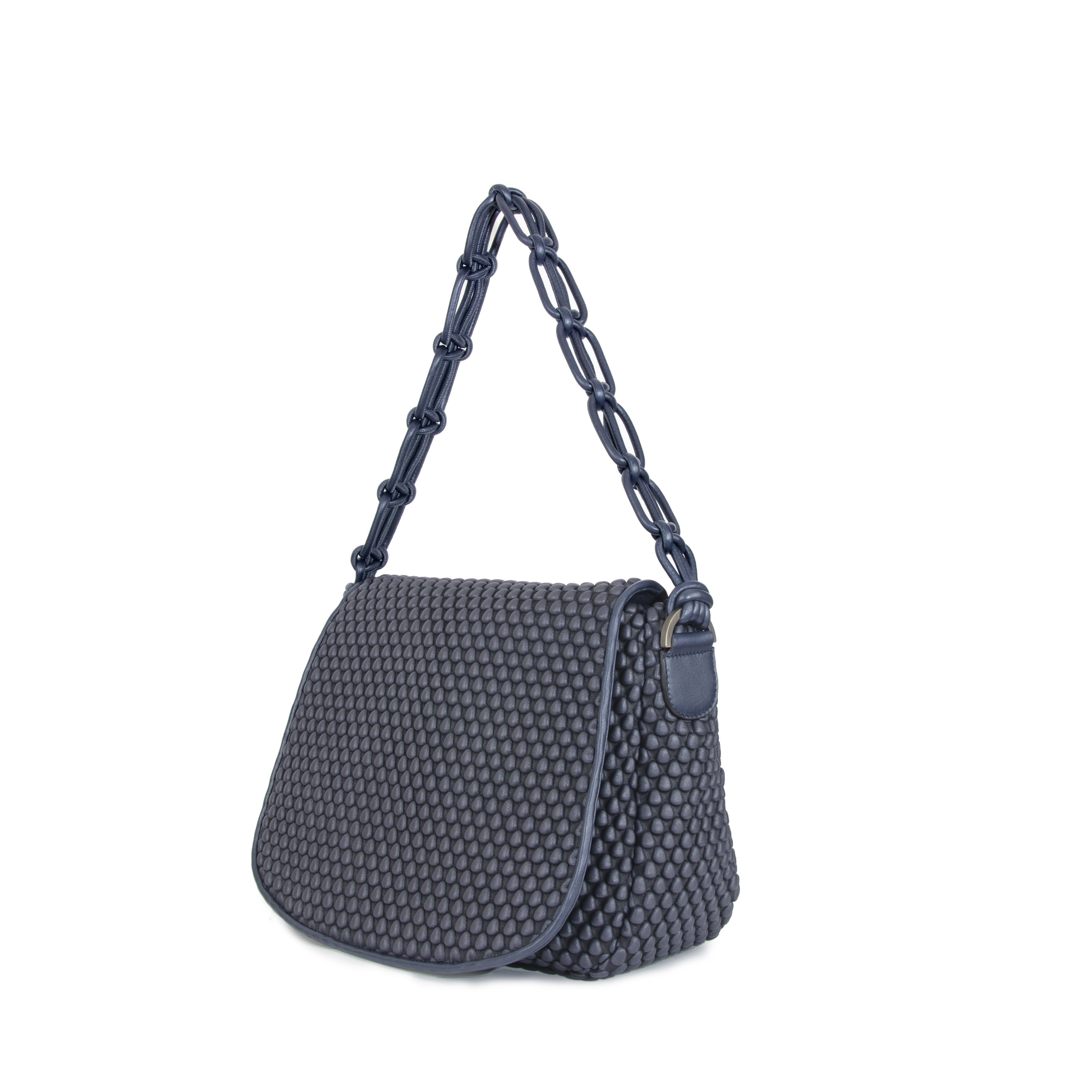 nay blue  nappa bubble bag