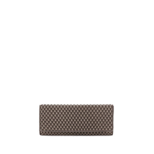 brown nappa bubble  clutch bag