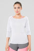 Marla Long Sleeved Top in white by Melany K US