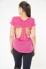 Gracie Short Sleeved Top in pink with back detail by Melany K US