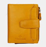 Finelaer Yellow Leather Zip Purse - Apex Urban Gear
