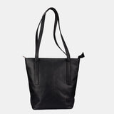 Finelaer Black Leather Tote - Apex Urban Gear