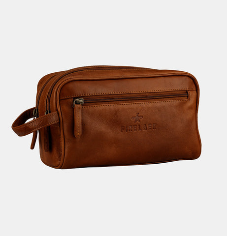 Finelaer Leather Dopp Kit - Apex Urban Gear