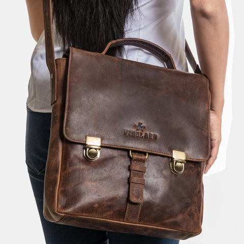 Finelaer Vintage Leather Unisex Crossbody - Apex Urban Gear