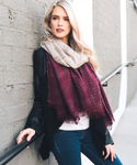 Ombre Long Fringe Scarf - Apex Urban Gear
