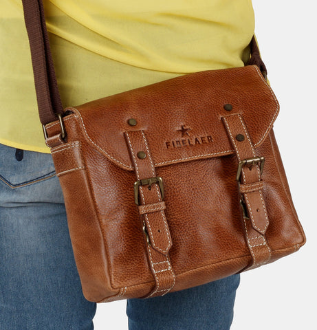 Finelaer Vintage Leather Crossbody - Apex Urban Gear