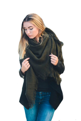 Warm Olive Square Scarf - Apex Urban Gear