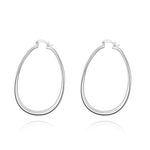 Large Flat Hoop Earrings - Apex Urban Gear