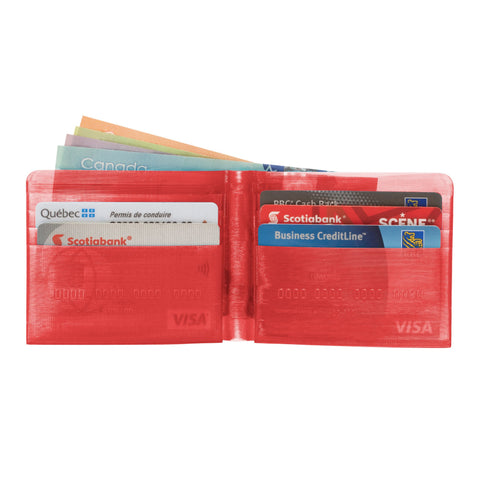Transparent Red 3D Printed Wallet - Apex Urban Gear