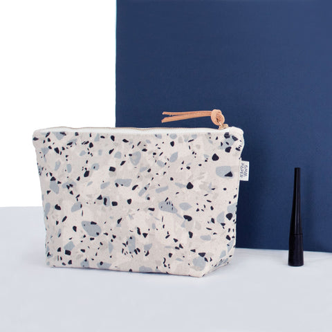 Canvas Cosmetic Bag - Blue - Apex Urban Gear