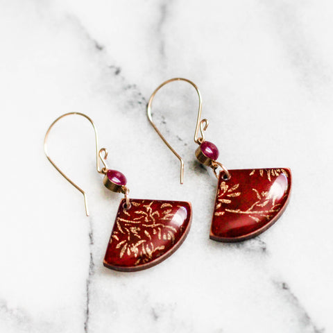 Crimson Lokta Earrings - Apex Urban Gear