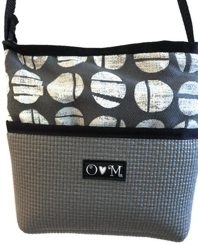 O❤️M Bernie Gray Dots Handbag - Apex Urban Gear