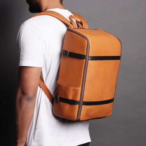 Leather Camera Backpack - Apex Urban Gear