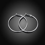 18K White Gold Plated Hoops - Apex Urban Gear