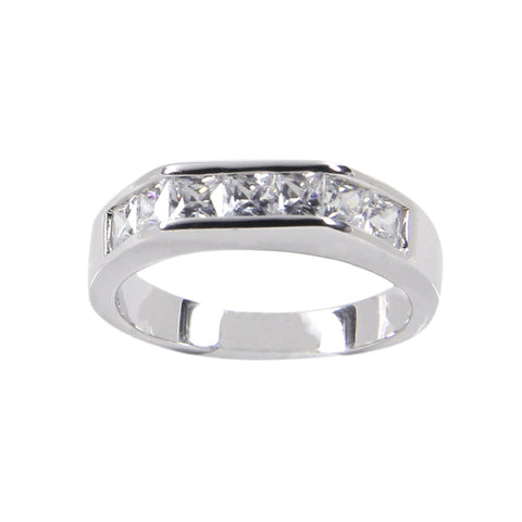 Half Eternity Sterling Silver Band - Apex Urban Gear