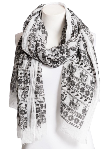Lightweight Elephant Boho Scarf - Apex Urban Gear