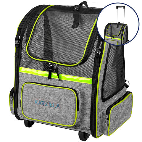 Hybrid Adventurer Wheeled Pet Carrier - Grey - Apex Urban Gear