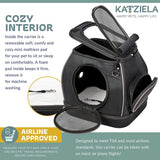 Katziela Expandable Bottom Soft Pet Carrier - Apex Urban Gear