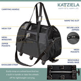 Katziela Airline Approved Wheeled Pet Carrier - Apex Urban Gear