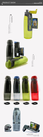 2-in-1 Water Bottle & Money Storage
