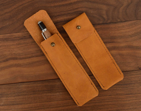 Leather Pen Pouch - Apex Urban Gear