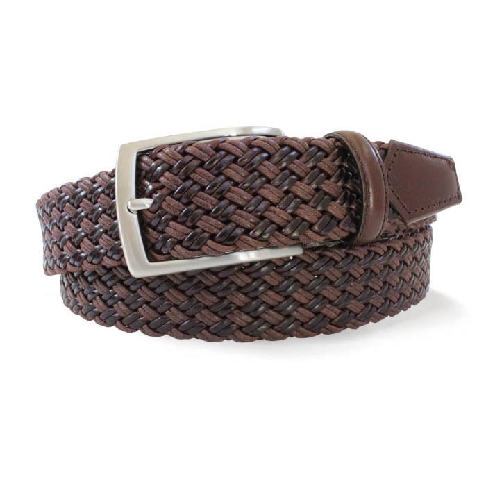 Robert Charles Woven Leather Belt