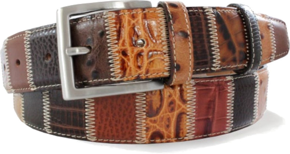 Robert Charles Patchwork Belt Brown