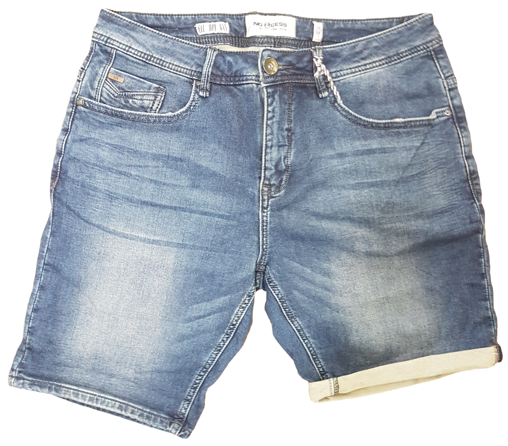 No Excess Jog Denim Shorts