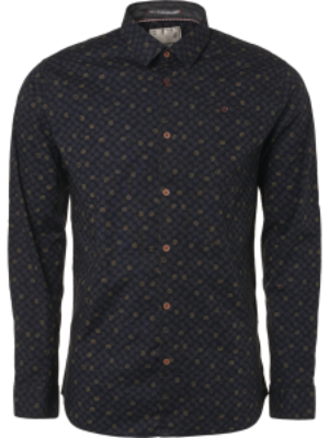 No Excess Digital Print Stretch LS Shirt
