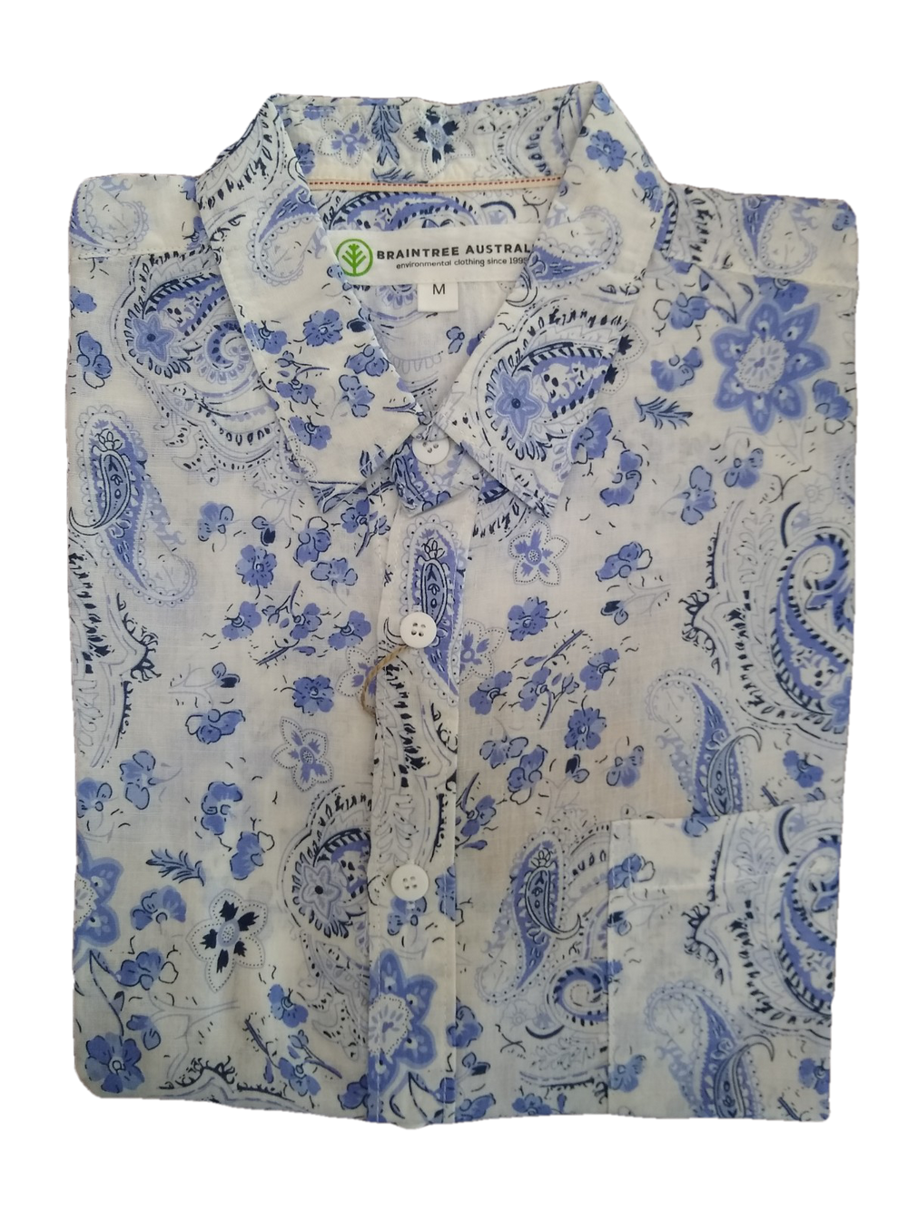 Braintree Blue Paisley Hemp SS Shirt