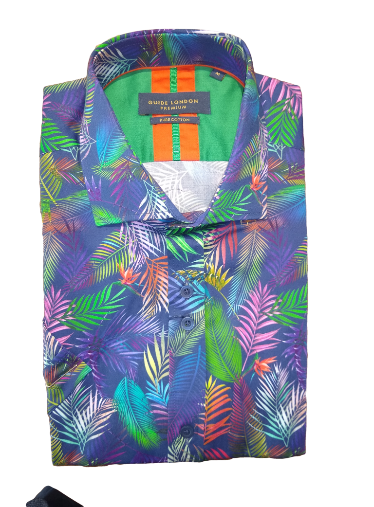 Guide London SS Palm Print Shirt