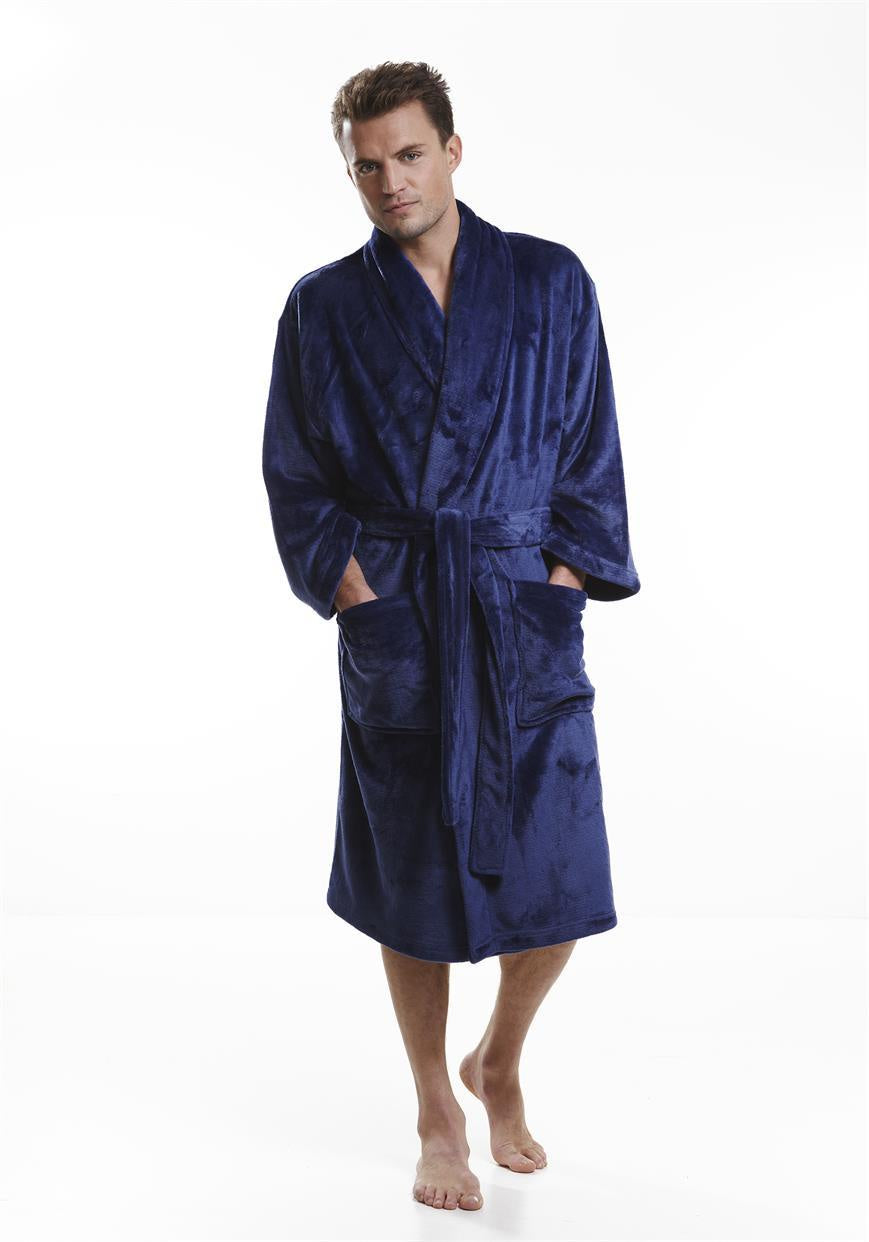 Klipper Dressing Gown M141128 Navy