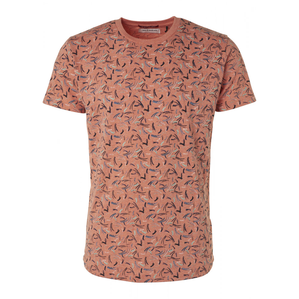No Excess All over print SS Tee Peach