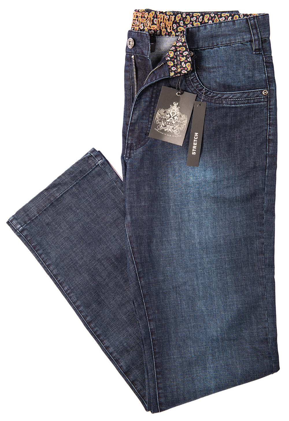 Berlin Square Weave  Blast Wash Jean