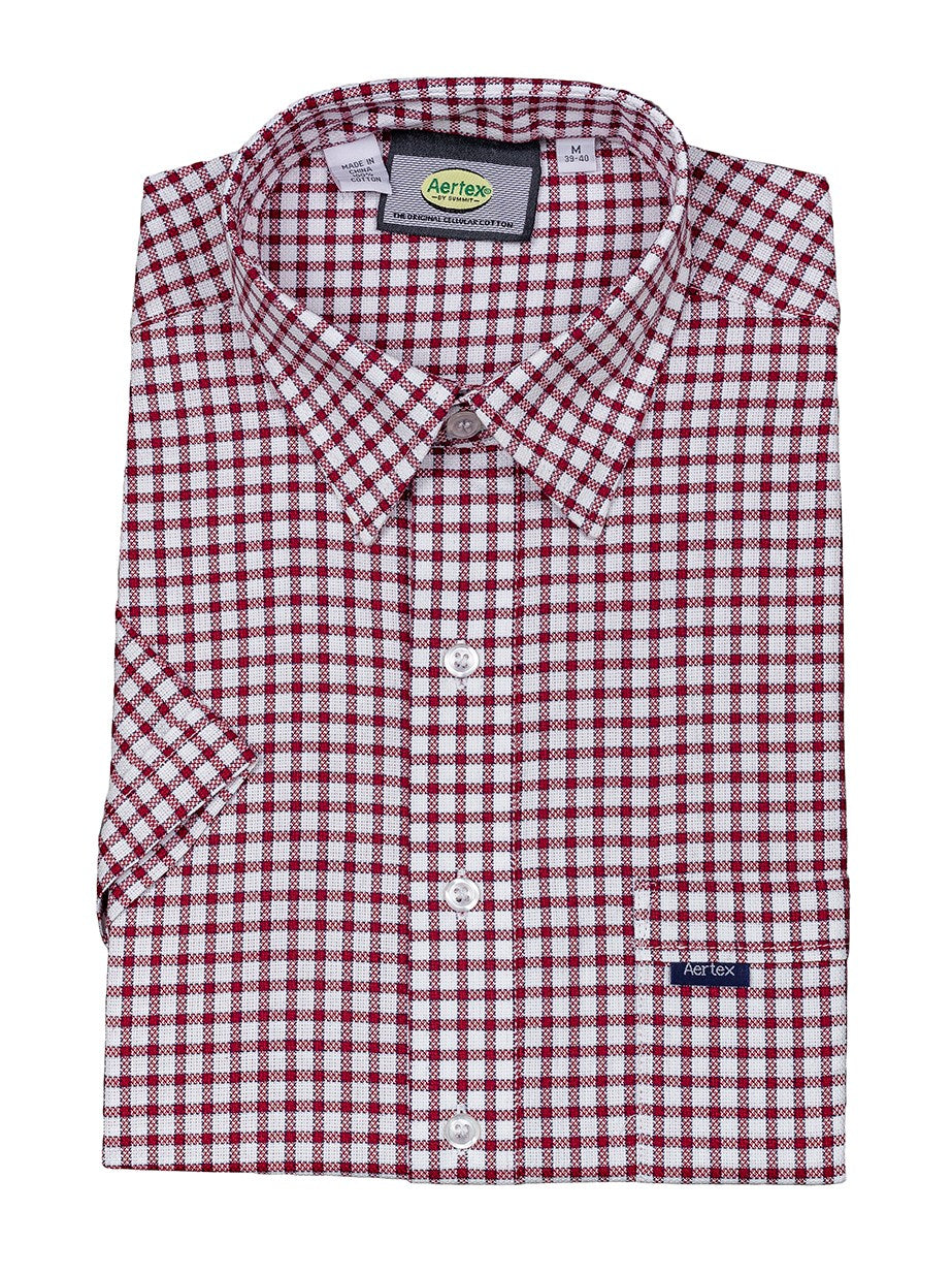 Aertex Window Check SS Shirt 88395