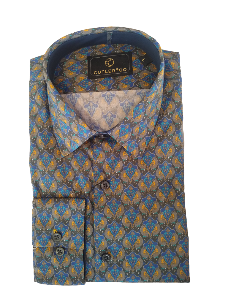 Cutler Nigel Long Sleeve Prussian Shirt